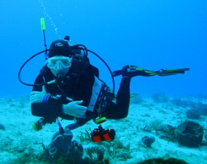 Divemaster candidate at Blue Angel Scuba School, cozumel mexico