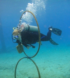 Student diver at Blue Angel Scuba School during Peak Performance Buoyancy course