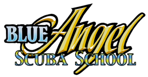 blue angel scuba school logo