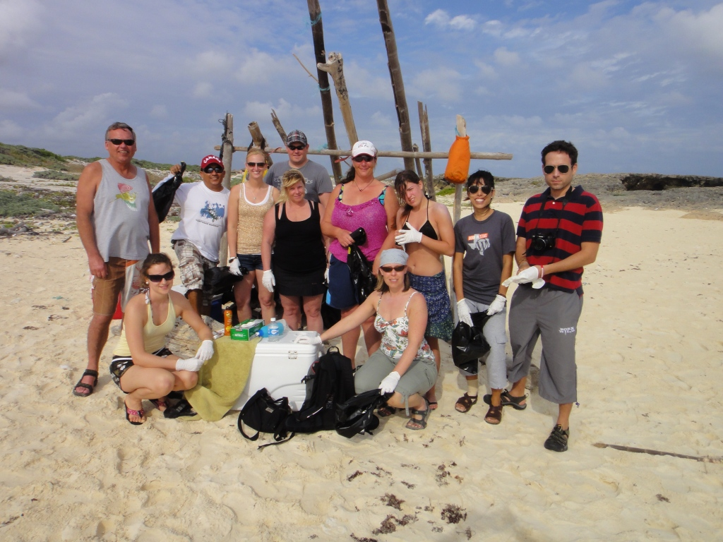 Blue Angel January beach clean up group photo