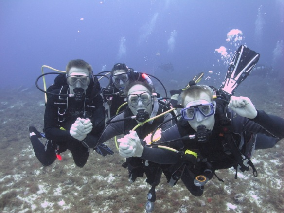 Kari Taylor Atkins with three Deep Diver students!