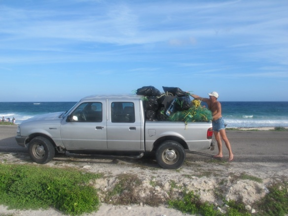 beach clean up in cozumel, with the university of alberta scuba club
