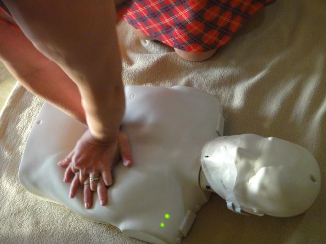 PADI EFR CPR manikin