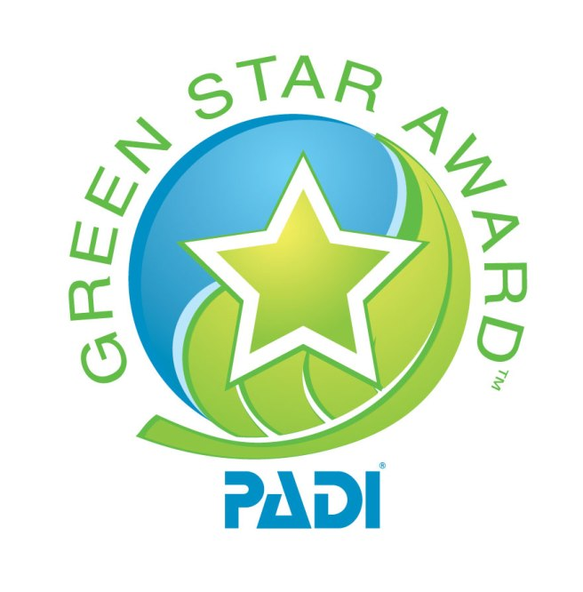 PADI Green Star Logo Blue Angel Scuba School