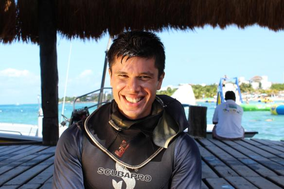 instructor at Blue Angel Scuba School